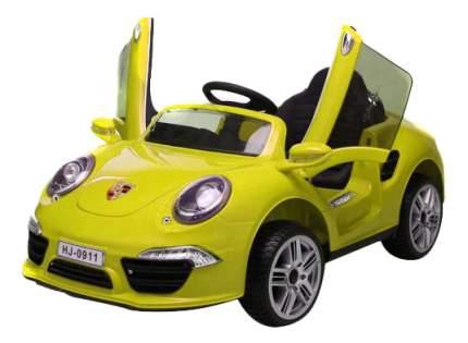 Электромобиль 1TOY Porsche 911 желтый