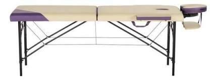 Массажный стол US Medica Master бежевый/фиолетовый