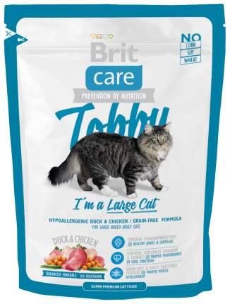 Сухой корм для кошек Brit Care Tobby, для крупных пород, утка, 0,4кг