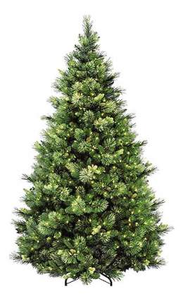 Сосна искусственная National Tree Company каролина с шишками и лампами 183 см