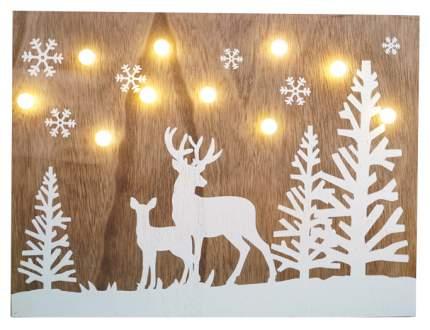 Светильник новогодний Олени в лесу 2