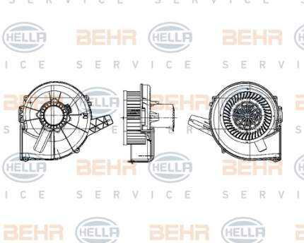 Двигатель моторчика печки Hella 8EW 009 157-131