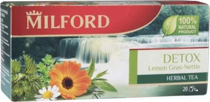 Напиток чайный Milford detox лемонграсс и крапива 20 пакетиков