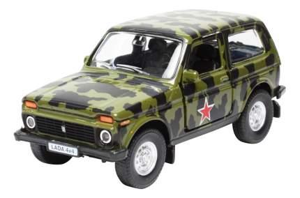 Металлическая инерционная модель Lada армейская 1:36 Autotime 33898