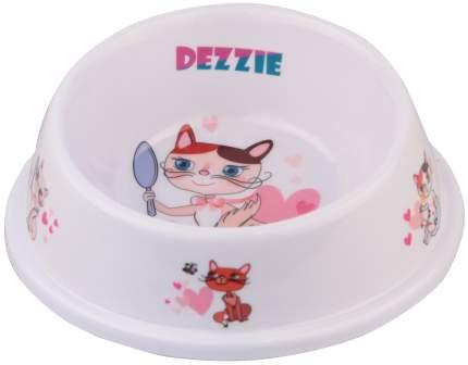 Одинарная миска для кошек DEZZIE, пластик, розовый, 0.15 л