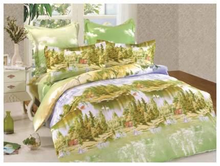 Комплект постельного белья СайлиД сатин печатный полутораспальный