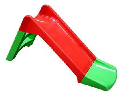 Горка детская Starplast С дополнением красно-зеленая
