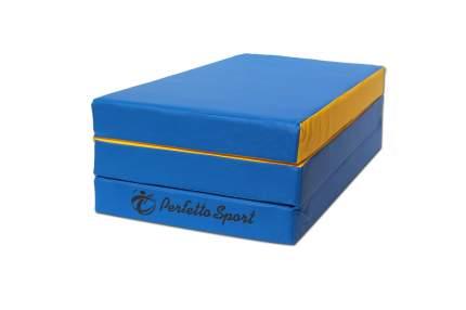 Гимнастический мат Perfetto Sport № 4 (100 х 150 х 10) складной сине-желтый