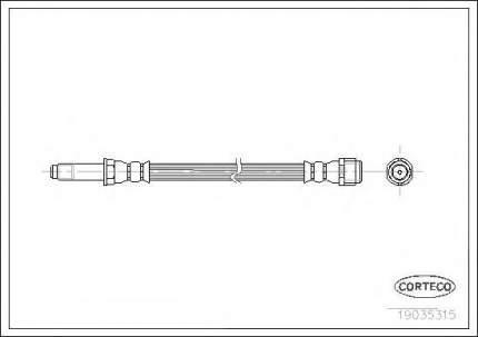Шланг тормозной системы Corteco 19035315
