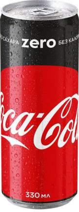 Напиток газированный Coca-Cola zero жестяная банка 0.33 л
