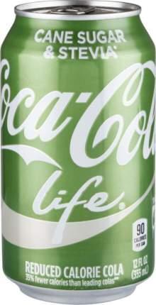 Напиток сильногазированный Coca-Cola life жестяная банка 355 мл