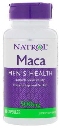 Препарат для мужчин Natrol Maca 500 мг 60 капсул