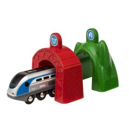 Электропоезд и 3 туннеля, серия SMART TECH (33834)