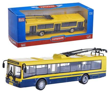Машинка инерционная, металлическая Троллейбус 1:72 Автопарк Play Smart