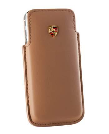 Кожаный чехол для iPhone 5 Porsche WAP0300150Е Cognac