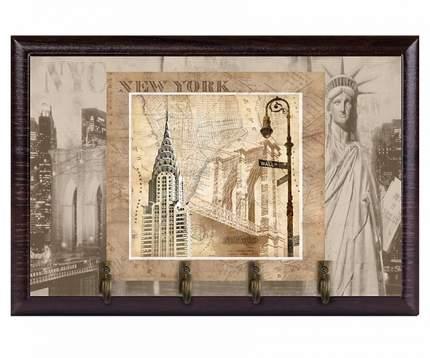 Ключница настенная  открытая Нью-Йорк/Город Подарков/200107