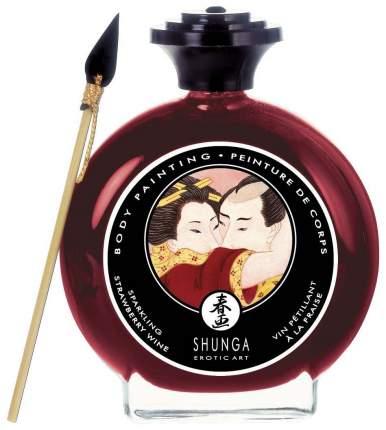 Декоративная крем-краска для тела Shunga с ароматом шампанского и клубники