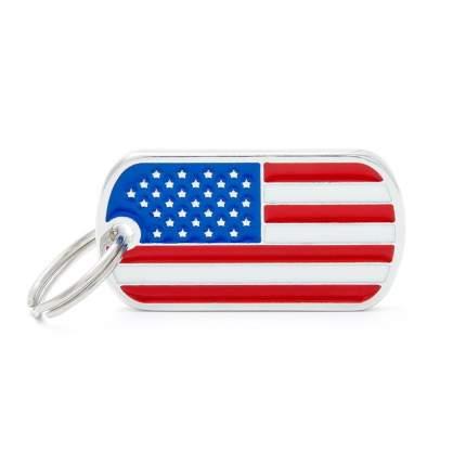 Адресник для кошек и собак My Family Flags U.S.A. Flag