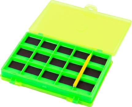 """Коробка для крючков, пластиковая с магнитом Salmo """"77"""", 145x105x52 мм"""