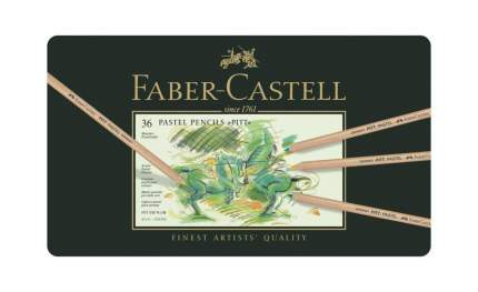 Пастельные карандаши Faber-Castell PITT в металлической коробке, 36 шт