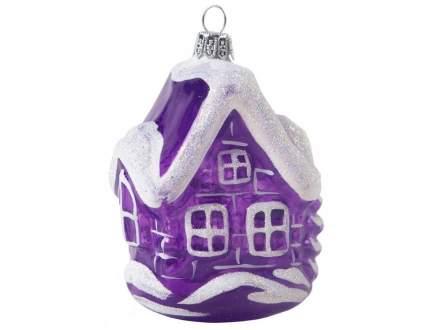 Елочная игрушка No Name 8 см 1 шт C 1627-фиолетовый