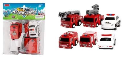 Машинки инерционные Junfa toys Мегамоторы набор 6 штук 121928-TN