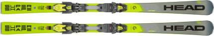 Горные лыжи Head Supershape i.Speed SW MFPR + PRD 12 GW 2020, grey/neon yellow, 170 см