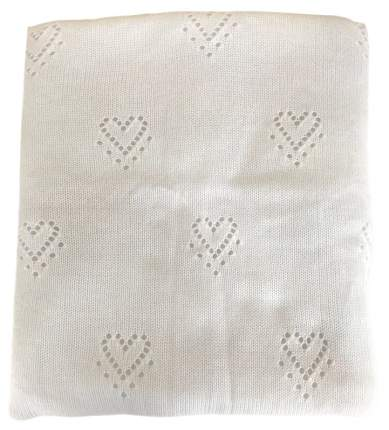 Одеяло-плед вязанный Mam Baby Сердечки 95x95 белый