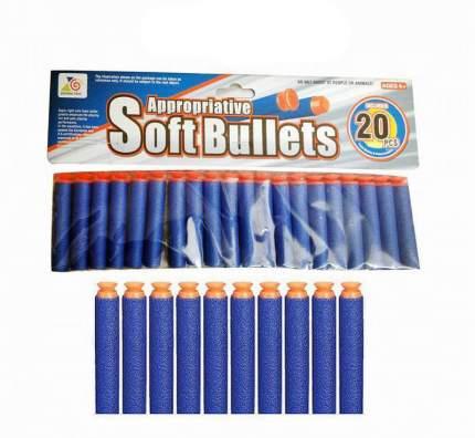 Мягкие пули, 20 штук, 28x1.5x14.5 см