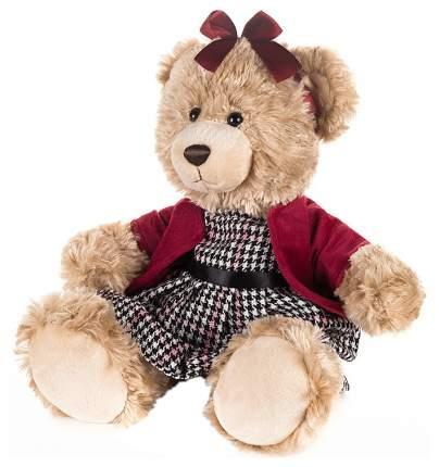Мягкая игрушка Мишка Моника в красном жакете и клетчатом платье, 25 см