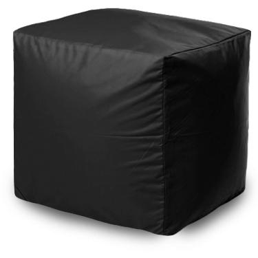 Пуф бескаркасный ПуффБери Квадратный Оксфорд, размер S, оксфорд, черный