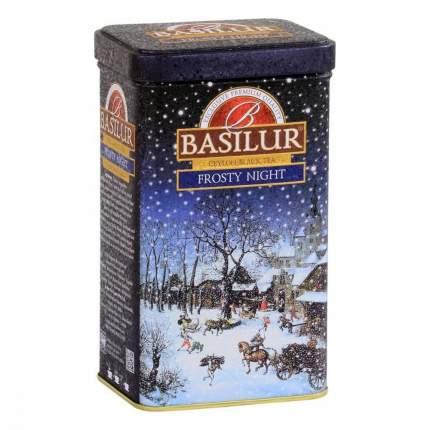Чай Basilur Праздничная коллекция - Морозная ночь черный с добавками 85 г