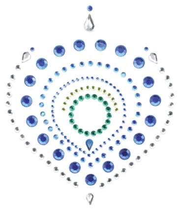 Украшение на грудь Bijoux сине-зеленое 0041