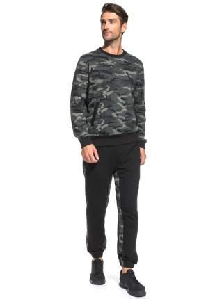 Спортивный костюм Peche Monnaie Camouflage France 43, черный/милитари, L INT