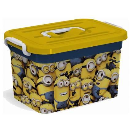 Ящик для игрушек Полимербыт Миньоны 6,5 литров с вкладышем
