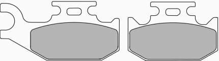 Тормозные колодки передние/задние Ferodo FDB2149SG для мотоциклов