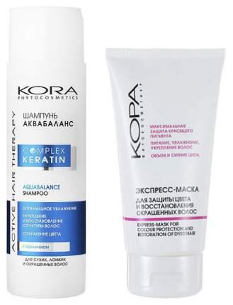 Набор средств для волос KORA Complex Keratin Аквабаланс 250 мл +150 мл