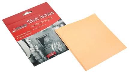 Набор «Поталь», 25 листов, серебряная 15х15 см, в папке Sima-Land