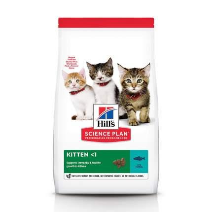 Сухой корм для котят Hill's Science Plan Kitten, для здорового роста, тунец, 7кг