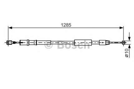 Трос cтояночного тормоза Bosch 1987482026