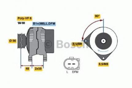 Генератор Bosch 0986047250