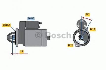 Стартер Bosch 0986016240