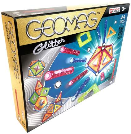 Конструктор магнитный GEOMAG Glitter 532 44 детали