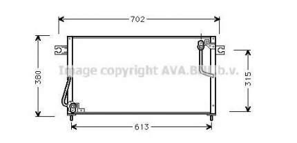 Радиатор кондиционера Ava MT5146