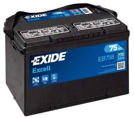Аккумулятор автомобильный EXIDE EB758 75 Ач