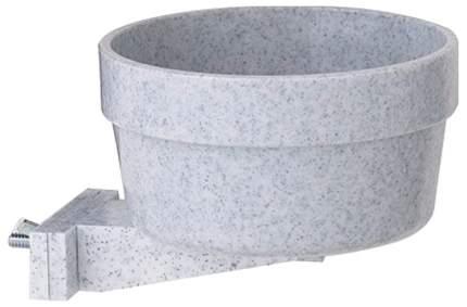 Одинарная миска для грызунов и птиц Savic, пластик, серый, 0.3 л