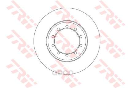 Тормозной диск TRW/Lucas DF6711 задний