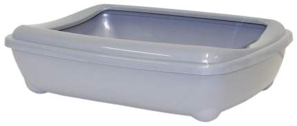 Лоток для кошек MODERNA Arist-o-tray с высоким бортом, светло-серый, 42 х 31 х 13 см