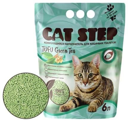 Комкующийся наполнитель туалета для кошек Cat Step Tofu Green Tea 6 л светло-зеленый