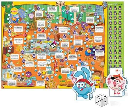 Семейная игра ГеоДом Игра-ходилка с фишками Cмешарики Комната сокровищ